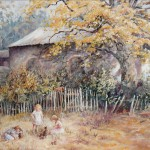 Painting by mother Belinda John